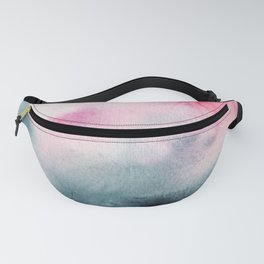 When indigo meets pink || watercolor Fanny Pack