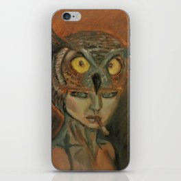 stare of an owl iPhone Skin