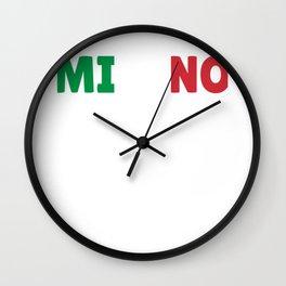 Milano Italy flag holiday gift Wall Clock