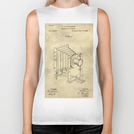 Industrial Farmhouse Blueprint Camera Biker Tank