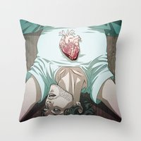 will graham Throw Pillows featuring Remarkable Boy (Will Graham) by Pana Stamos