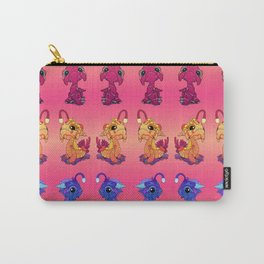 Magenta Baby Sea Monster Carry-All Pouch