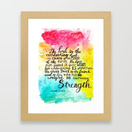 The Lord IS Hand lettering Framed Art Print