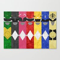 power rangers Canvas Prints featuring Mighty Morphin Power Rangers by Some_Designs