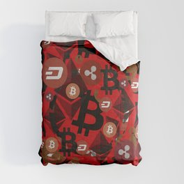 Сryptocurrencies money pattern Comforters