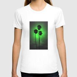 Palm Trees Green Glow T-shirt