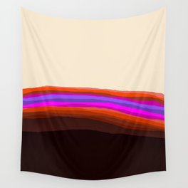 Orange, Purple, and Cream Abstract Wall Tapestry