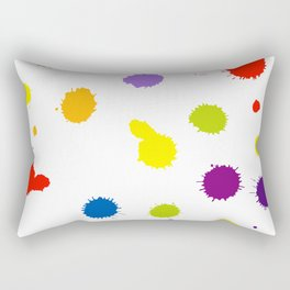 Seamless pattern background with rainbow blots Rectangular Pillow