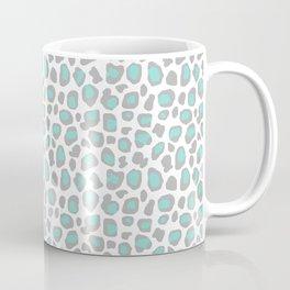 Leopard Animal Print Aqua Blue Gray Grey Spots Coffee Mug