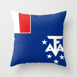 French Southern Territories flag Throw Pillow