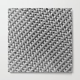 Black and White 3 Metal Print