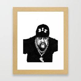 nobody beats the biz Framed Art Print