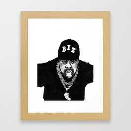 nobody beats the biz Framed Art Print