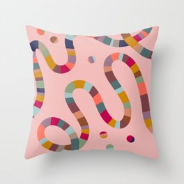 Striped noods Throw Pillow