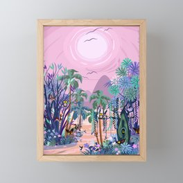 The Eyes of the Enchanted Misty Forest Framed Mini Art Print