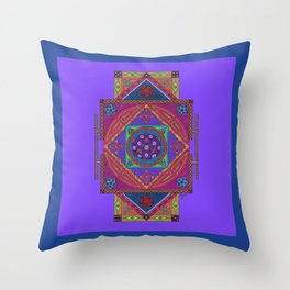 Just Another Roll of the Dice (Blue) Throw Pillow
