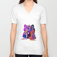 gumball V-neck T-shirts featuring The Madness of Prince Gumball by CloudyLights
