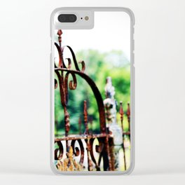 Cemetary Gate Clear iPhone Case