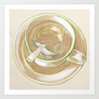 Green Tea Pond Art Print