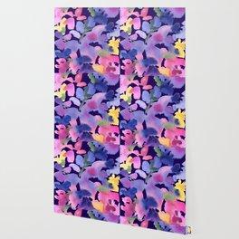 Monet's Blue Garden Wallpaper