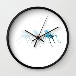 Mosquitoes / Abstract animal portrait. Wall Clock