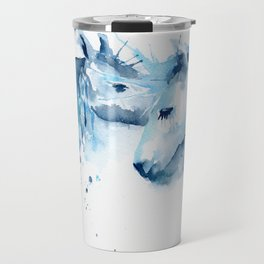 Watercolor Horse Love Travel Mug