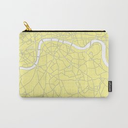 London Yellow on White Street Map Carry-All Pouch