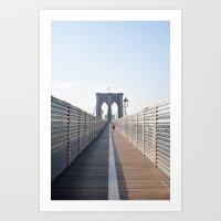 brooklyn Art Prints featuring Brooklyn by Ali Inay