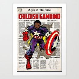 DANGEROUS GAMBINO Art Print