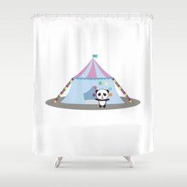 Panda in Circus juggling Shower Curtain