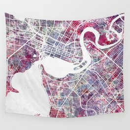 Perth map Wall Tapestry