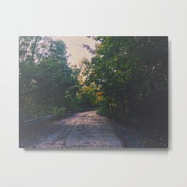 Lightly lit road Metal Print