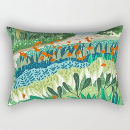 Solo Walk #illustration #nature Rectangular Pillow