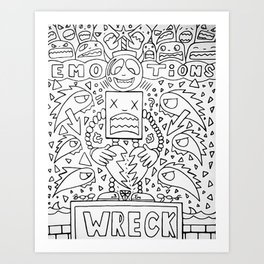 Emotional Wreck Art Print