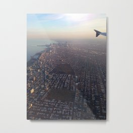 Flying into Chicago Metal Print