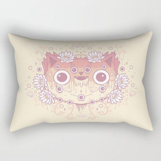Cat flowers Rectangular Pillow