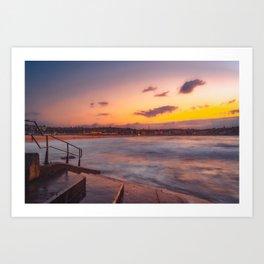 Bondi beach sunrise Art Print