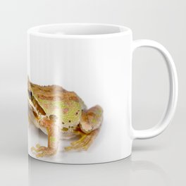 Green and brown frog on white background Coffee Mug