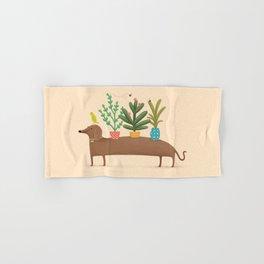 Dachshund & Parrot Hand & Bath Towel