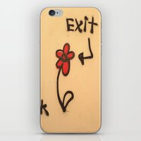 grafitti iPhone & iPod Skins featuring Exit Grafitti Flower by Simpson Jane