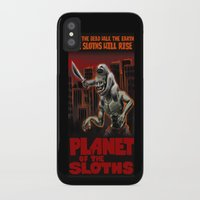 sloths iPhone & iPod Cases featuring Planet Of The Sloths by Chris Moet