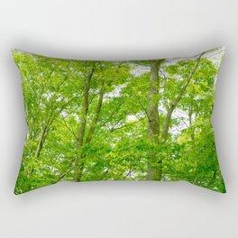 New green leaves of a Japanese zelkova tree Rectangular Pillow
