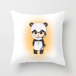 Chibi Panda-lecki Throw Pillow