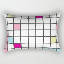 Memphis Block Pattern Rectangular Pillow