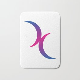 Double Crescent Moon Bisexual Pride Symbol Bath Mat