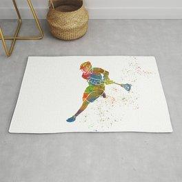 Lacrosse in watercolor Rug