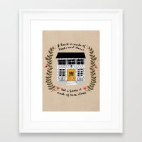 home sweet home Framed Art Prints featuring Home by Phillippa Lola