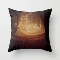 narnia Throw Pillows featuring Where's the white rabbit?  by Sparks of Fire