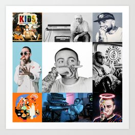 Mac Miller Album History Poster, Home Decor, Wall Art Art Print