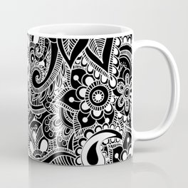 Floral zentangle Coffee Mug